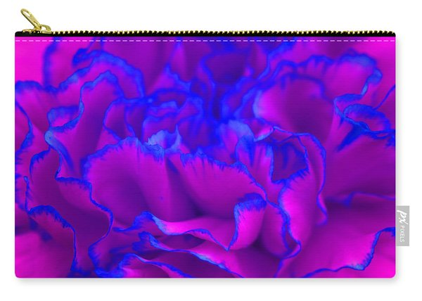 Bold Fuschia Pink And Blue Carnation Flower Carry-all Pouch