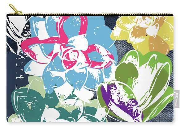 Bold Succulents 2- Art By Linda Woods Carry-all Pouch