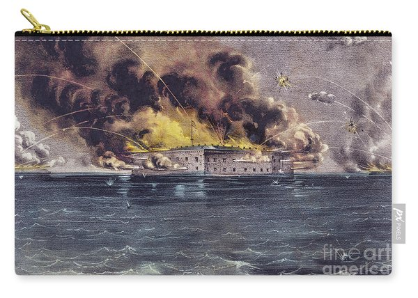 Bombardment Of Fort Sumter, Charleston Harbor, Signaled The Start Of The American Civil War Carry-all Pouch