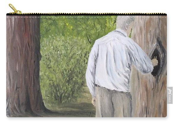Carry-all Pouch featuring the painting Boo by Kevin Daly