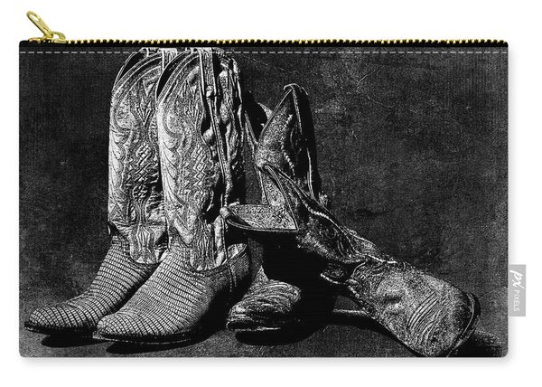 Boot Friends - Art Bw Carry-all Pouch