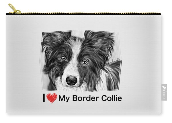 Border Collie Stare Carry-all Pouch