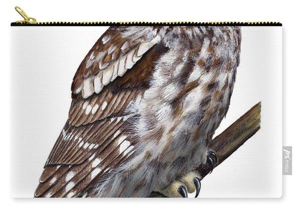 Boreal Owl Tengmalm's Owl Aegolius Funereus - Nyctale De Tengmalm - Paerluggla - Nationalpark Eifel Carry-all Pouch