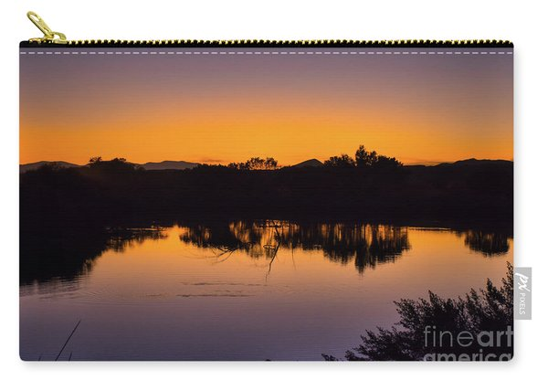 Carry-all Pouch featuring the photograph Bosque Del Apache Sunset by Susan Warren