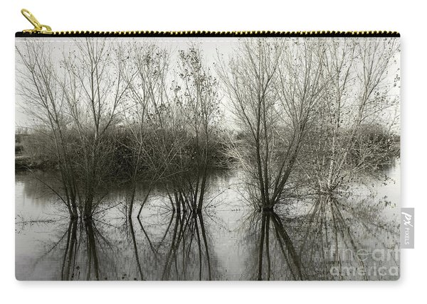 Carry-all Pouch featuring the photograph Bosque Reflection by Susan Warren