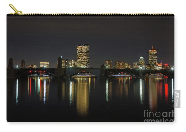 Boston Skyscrappers Behind Bridge Carry-all Pouch