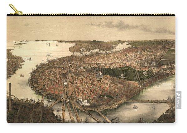 Boston Bird's-eye View From The North Carry-all Pouch