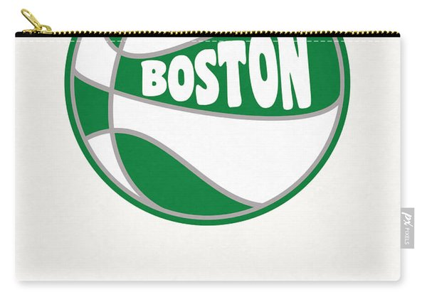 Boston Celtics Vintage Basketball Art Carry-all Pouch