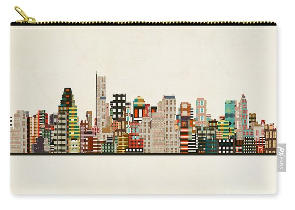 Boston City Skyline Carry-all Pouch