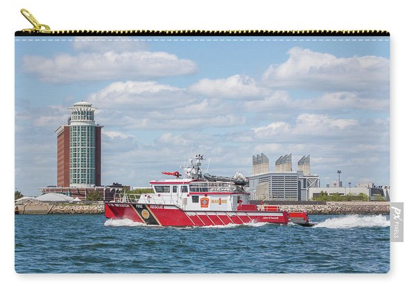 Boston Fire Rescue Boat Passing Logan Airport Carry-all Pouch