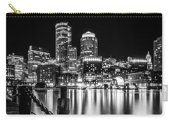 Boston Harbor At Night Carry-all Pouch