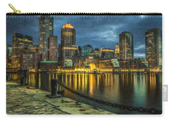 Boston Skyline At Night - Cty828916 Carry-all Pouch