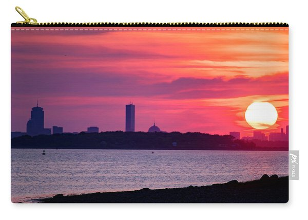 Boston Skyline Worlds End Carry-all Pouch