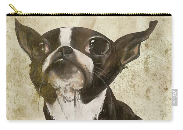 Boston Terrier - Antique Carry-all Pouch