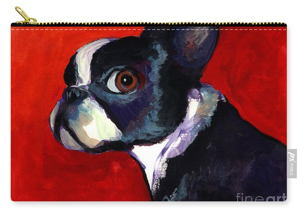 Boston Terrier Dog Portrait 2 Carry-all Pouch