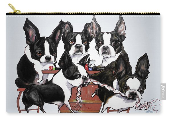 Boston Terrier - Dogs Playing Poker Carry-all Pouch
