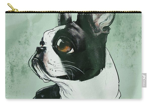 Boston Terrier - Green  Carry-all Pouch