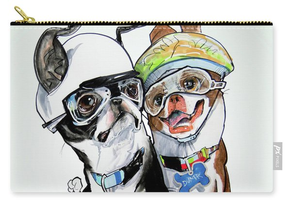 Boston Terriers - Dumb And Dumber Carry-all Pouch