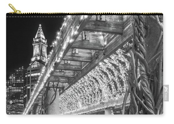 Boston's Custom House And Christopher Columbus Park Trellises Carry-all Pouch