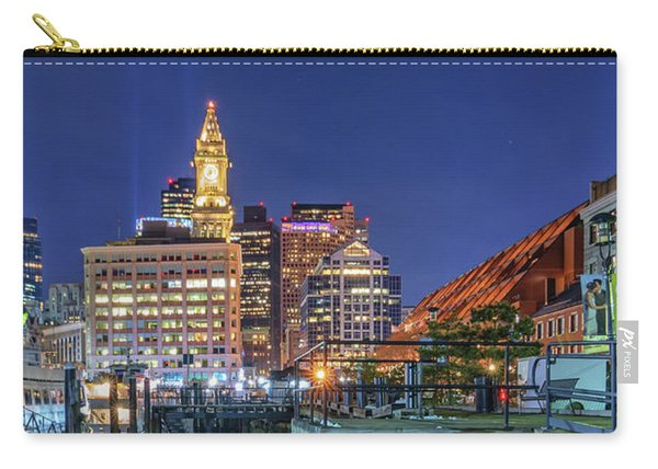 Boston's Custom House Tower From Long Wharf Carry-all Pouch