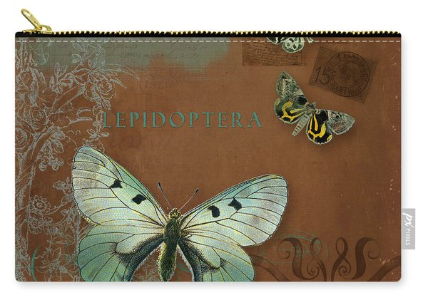 Botanica Vintage Butterflies N Moths Collage 4 Carry-all Pouch
