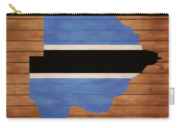 Botswana Rustic Map On Wood Carry-all Pouch