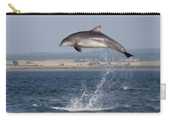 High Jump - Bottlenose Dolphin  - Scotland #42 Carry-all Pouch