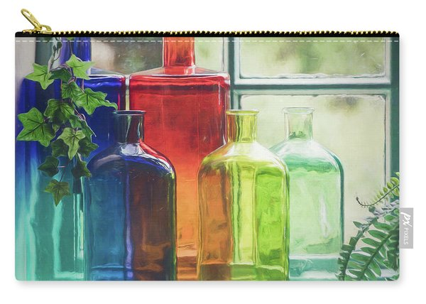 Bottles In The Window Carry-all Pouch