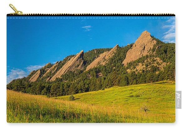 Boulder Colorado Flatirons Sunrise Golden Light Carry-all Pouch