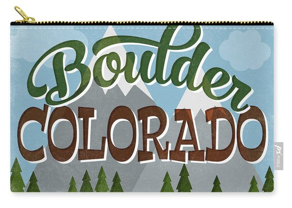 Boulder Colorado Snowy Mountains Carry-all Pouch