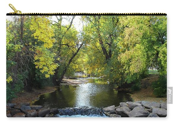 Boulder Creek Tumbling Through Early Fall Foliage Carry-all Pouch