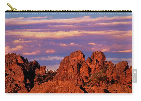 Boulders Sunset Light Pinnacles National Park Californ Carry-all Pouch
