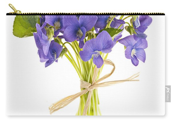 Bouquet Of Violets Carry-all Pouch