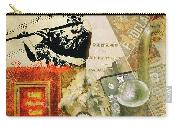 Bourbon Street Collage Carry-all Pouch