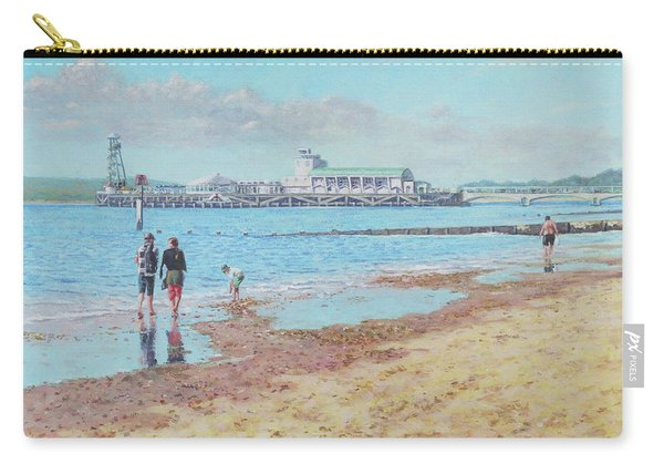 Carry-all Pouch featuring the painting Bournemouth Pier Late Summer Morning by Martin Davey