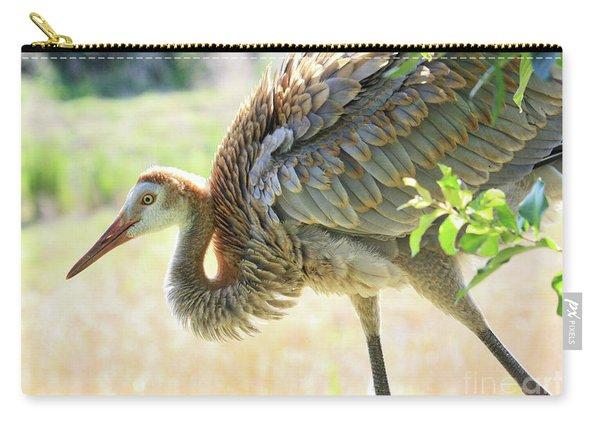 Bowing Juvenile Sandhill Crane Carry-all Pouch