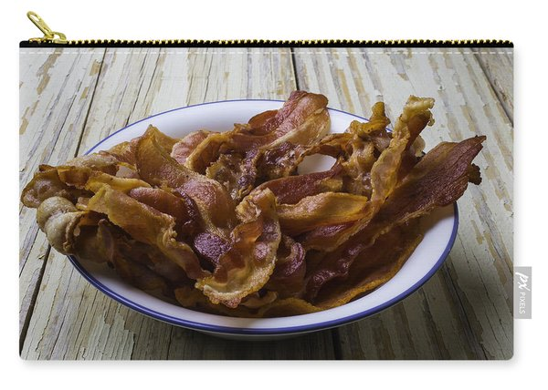 Bowl Of Bacon Carry-all Pouch