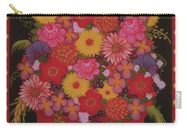 Bowl Of Flowers Carry-all Pouch