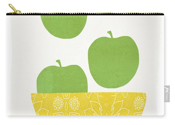 Bowl Of Green Apples- Art By Linda Woods Carry-all Pouch
