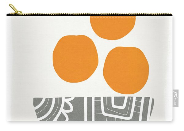 Bowl Of Oranges- Art By Linda Woods Carry-all Pouch