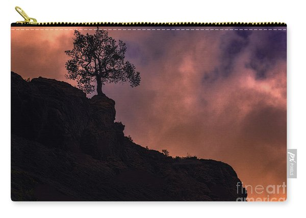 Carry-all Pouch featuring the photograph Box Canyon Sunset by Susan Warren