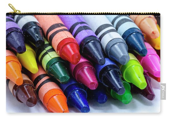 Box Of Colorful Crayons Carry-all Pouch