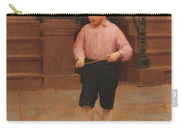 Boy Fishing At 58 And A Half East 10th Street, 1871 Carry-all Pouch