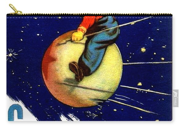 Boy Is Riding Russian Satellite Carry-all Pouch