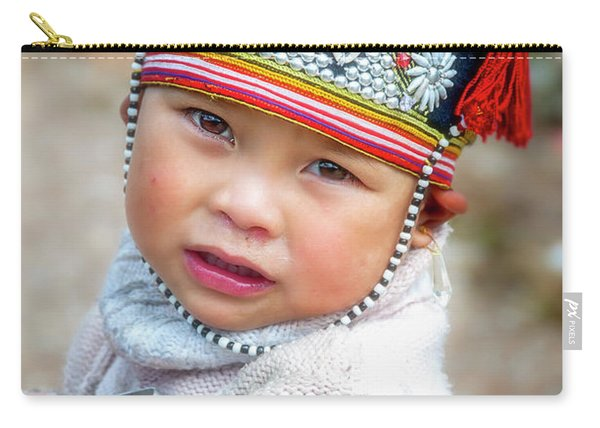 Boy With A Red Cap. Carry-all Pouch