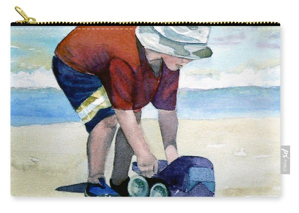 Boy With Truck Carry-all Pouch