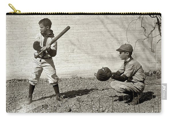 Boys Playing Baseball Carry-all Pouch