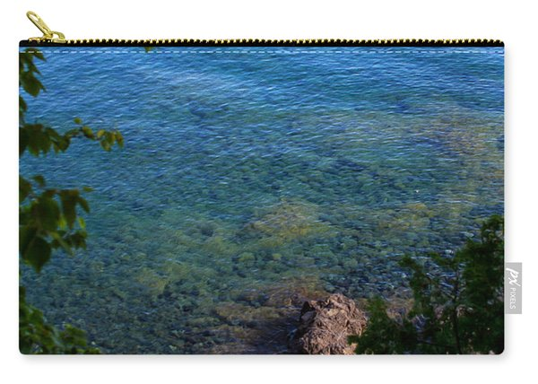 Boys Playing On Shore Rocks Carry-all Pouch