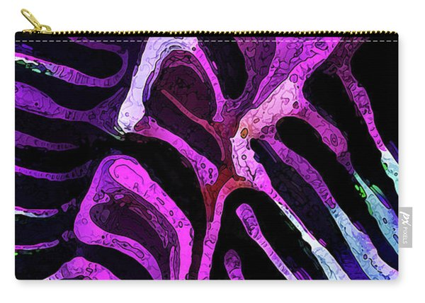 Brain Coral Abstract 1 In Magenta Carry-all Pouch