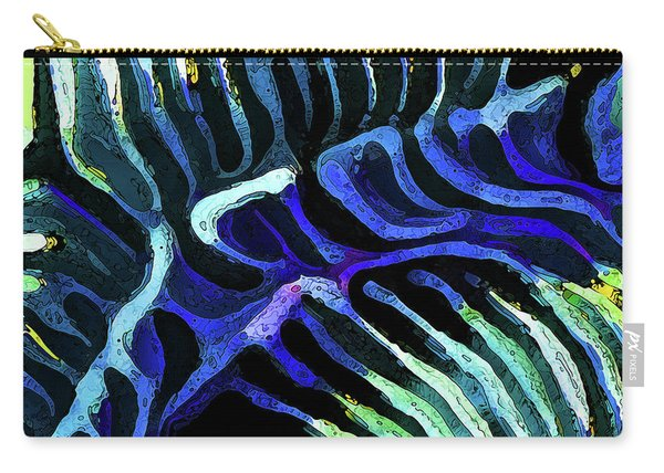 Brain Coral Abstract 3 In Blue Carry-all Pouch